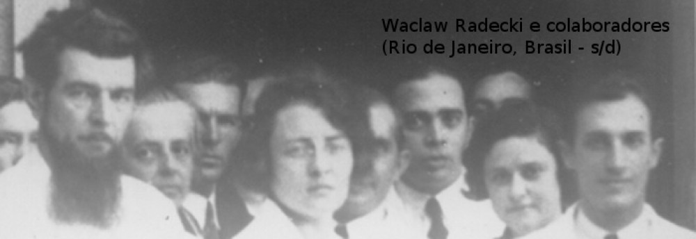 Radecki (no canto esquerdo) e seus colaboradores no Instituto de Psicologia