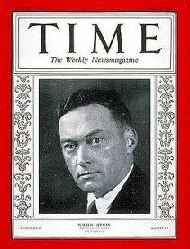 Walter Lippmann en la portada del semanario Time.