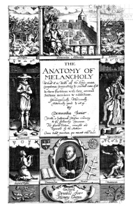 Digitized title page of The Anatomy of Melancholy, 1632.