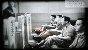 Screen shot from digitized film Cadet Classification, 1943.