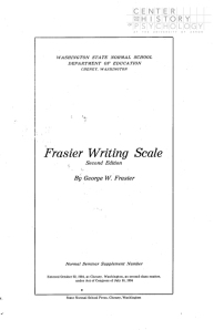 Digitized title page of Frasier Writing Scale, 1904.