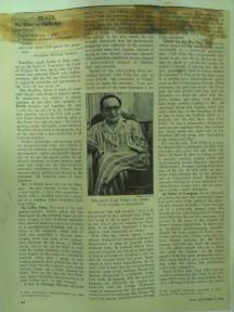 Recorte de Jornal encontrado no CHP - Brasil na década de 1950