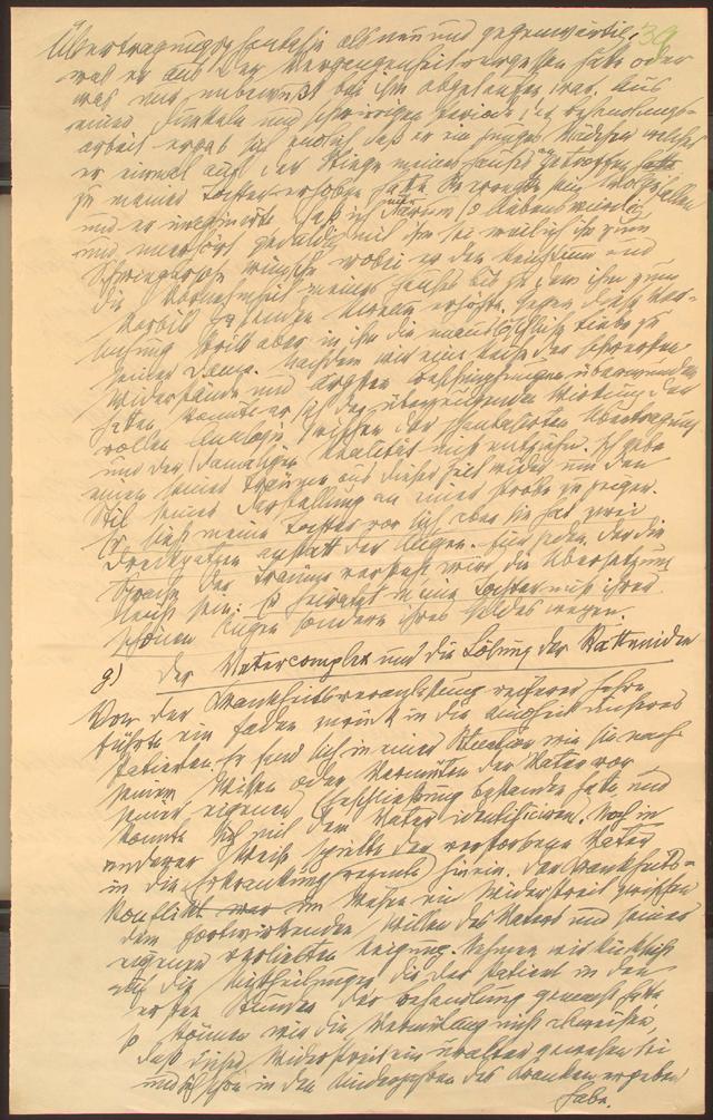 Una página manuscrita por Freud sobre su célebre caso 'El hombre de las ratas', disponible en la Biblioteca del Congreso.