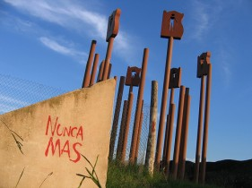 """Esta obra se encuentra donde fuera """"el Vesubio"""", Centro clandestino de detención"""