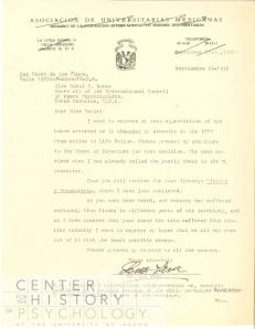 Correspondence between Luz Vera and Carol Bowie - ICWP.