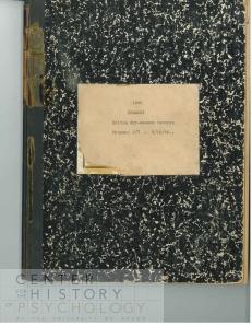Theodore Christian Schneirla's Notebook.