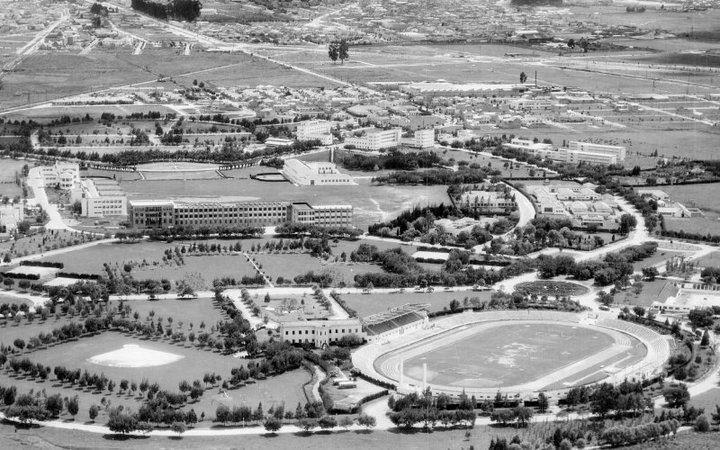 Panorámica de la Universidad Nacional de Colombia durante los años 40, cuando se creó el Instituto de Psicología Aplicada.