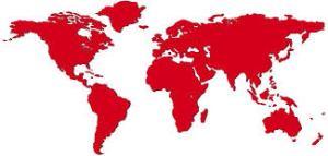 En rojo los países de los autores con este hábito