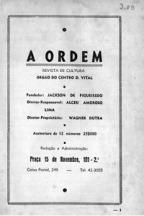 Portada de una edición de la revista A Ordem.